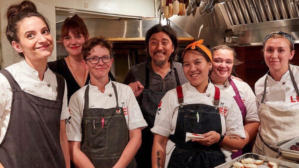 chefs in the kitchen,  women supporting women,