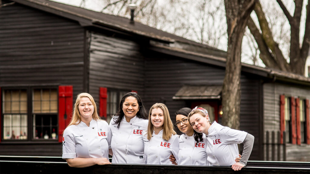 The LEE Initiative 2019 mentees, women chefs