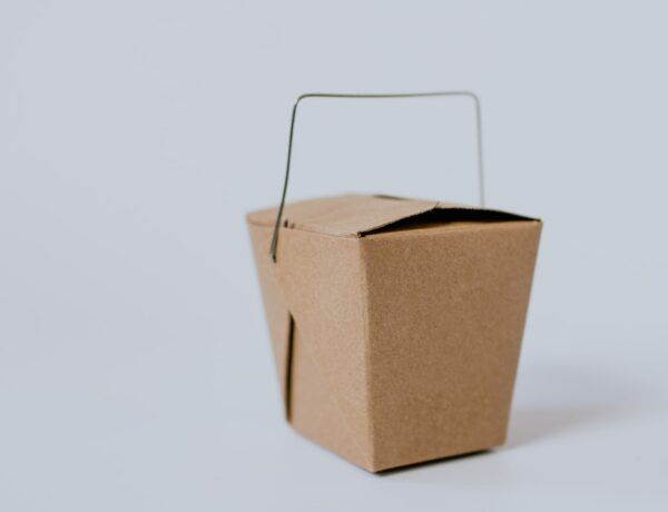 Brown takeout box